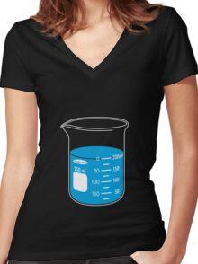 beaker elixir (blueberry) Women's Fitted V-Neck T-Shirt