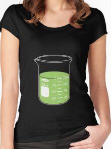 beaker elixir (lime) Women's Fitted Scoop T-Shirt