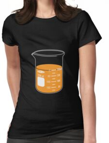 beaker elixir (orange) Womens Fitted T-Shirt