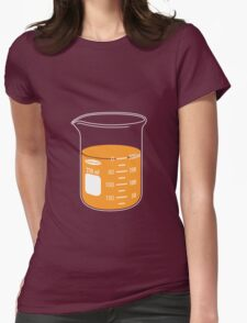 beaker elixir (orange) Womens Fitted T-Shirt