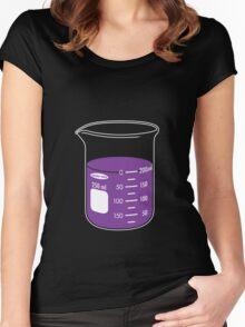 beaker elixir (grape) Women's Fitted Scoop T-Shirt
