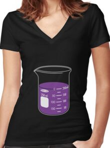 beaker elixir (grape) Women's Fitted V-Neck T-Shirt