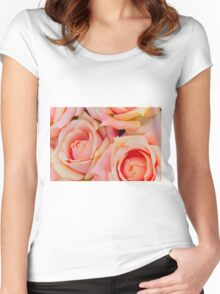 roses art of cloth Women's Fitted Scoop T-Shirt