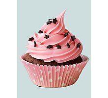Pink cupcake Photographic Print