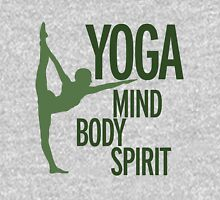 YOGA mind body spirit Womens Fitted T-Shirt