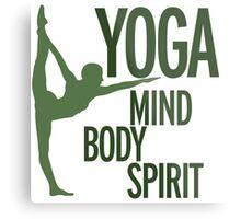 YOGA mind body spirit Metal Print