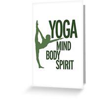 YOGA mind body spirit Greeting Card