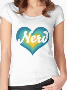 Retro NERD Women's Fitted Scoop T-Shirt