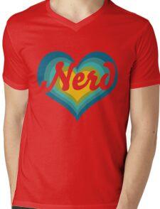 Retro NERD Mens V-Neck T-Shirt