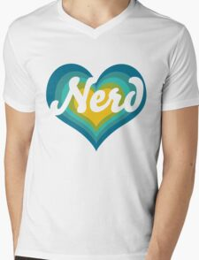 Retro NERD Mens V-Neck T-Shirt