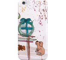 Christmas morning (puppy and presents) iPhone Case/Skin