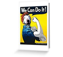 Lucy the Riveter - We Can Do It! Greeting Card