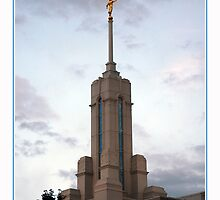Mount Timpanogos Temple Steeple by Ryan Houston