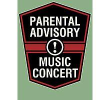 Prental Advisory Music Concert  Photographic Print