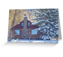 Cabin in the Canyon Greeting Card