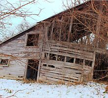 Tilted barn Decicated to a Mother's Love  by Kelly  McAleer
