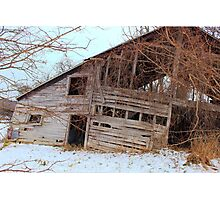 Tilted barn Decicated to a Mother's Love  Photographic Print