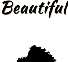 """The IT Crowd Inspired Moss Minimalist Art Print """"Be Your Own Kind of Beautiful"""" Sticker"""