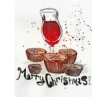Mulled wine and mince pies Photographic Print