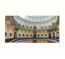 Texas Capitol Rotunda Panorama Art Print