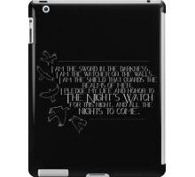 The Night's Watch Oath iPad Case/Skin