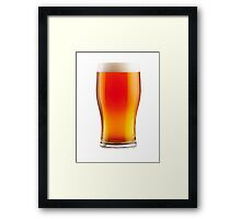The Perfect Pint Framed Print