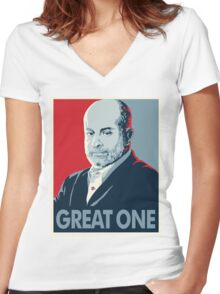 Mark Levin Great One Women's Fitted V-Neck T-Shirt