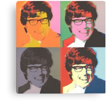 Austin Powers Pop Art Canvas Print