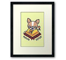 Poncho Fever Chihuahua Framed Print