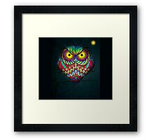 """""""Angry Owl by Night"""" Framed Print"""