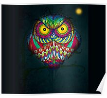 """Angry Owl by Night"" Poster"