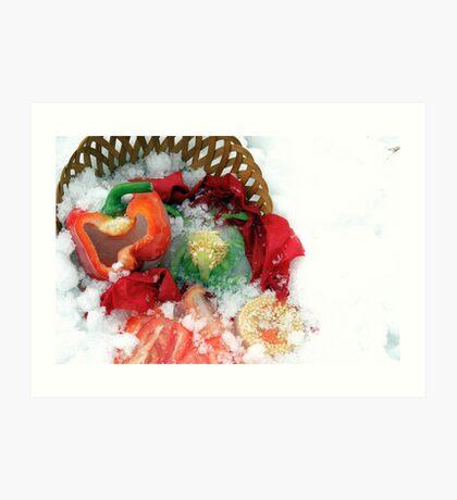 Fallen Food Art Print