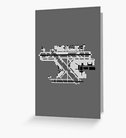 Fort Lauderdale Airport Diagram Greeting Card