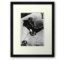 Burning Heart flames to my Loving Hate Framed Print