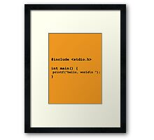 I am a geek Framed Print