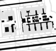 Los Angeles Airport Diagram Sticker