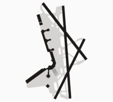 Washington National Airport Diagram One Piece - Short Sleeve
