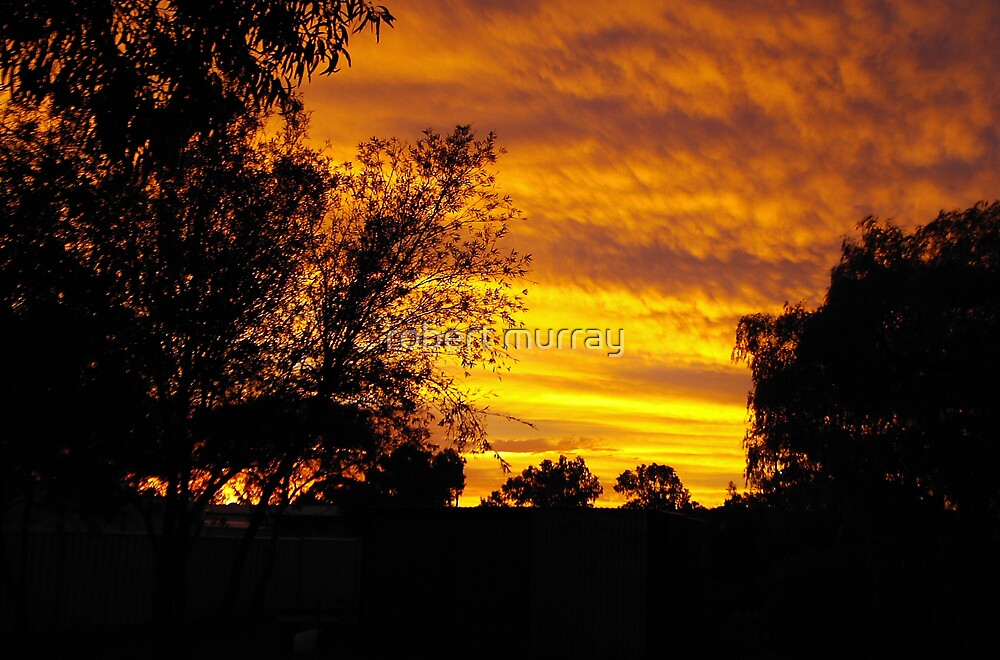 cyclonic sunset by robert murray