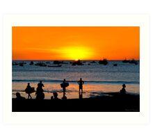 Bright Future - San Juan del Sur Beach at Sunset Art Print