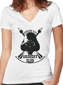 Starling City Archery Club - Arrow Women's Fitted V-Neck T-Shirt