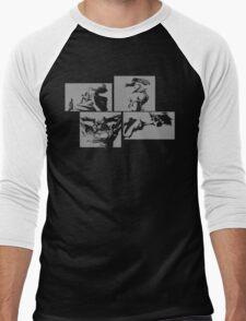 Cowboy Bebop Panels 2 Men's Baseball ¾ T-Shirt