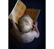 Book Worm Photographic Print