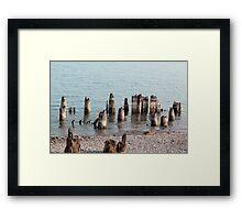 Old Pilings Port Huron Michigan Framed Print
