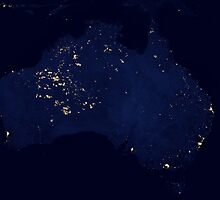 Austrailia At Night - As Seen From Space by verypeculiar