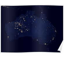 Austrailia At Night - As Seen From Space Poster