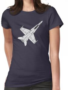 F 18 Hornet Jet Fighter Womens Fitted T-Shirt