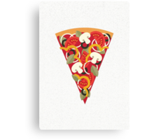 Pizza Power - Vegetarian Version Canvas Print