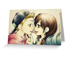 Ale e Cucca - Diegucca french kiss Greeting Card