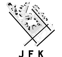 JFK Airport Diagram by vidicious