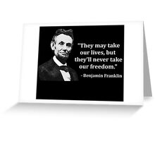 Abraham Lincoln Troll Quote Greeting Card